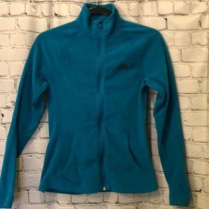 ✅The North Face Teal Fleece Jacket